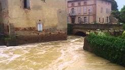 Inondations à Samatan dans le Gers