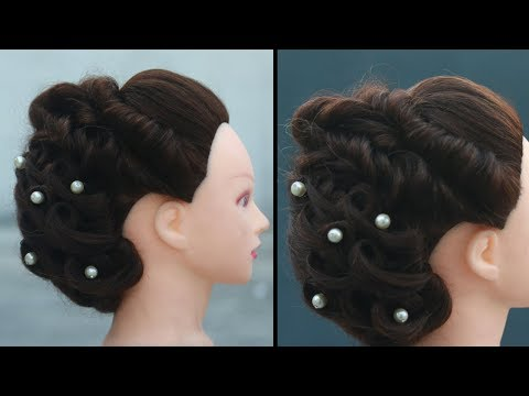 Hairstyle For Party | Hairstyle With Puff | Easy Wedding Hairstyle