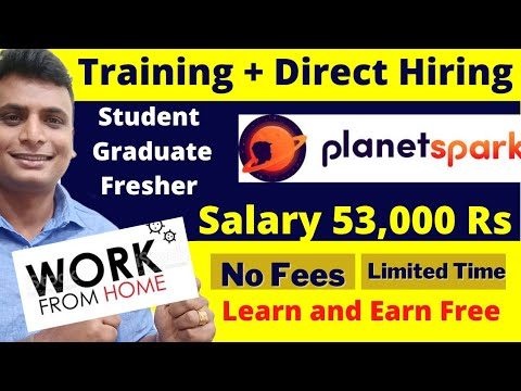 Work From Home Job Salary 6.5 Lakh   Free Training   Fresher   No Fees    Online Jobs for students