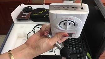 Máy trợ giảng, thuyết trình, thuyết minh AePel FC-530 - Pin khủng, âm thanh sắc nét, chống rú rít