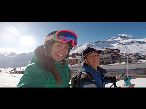Tignes Ski Instructor, Tori Collins on the School run
