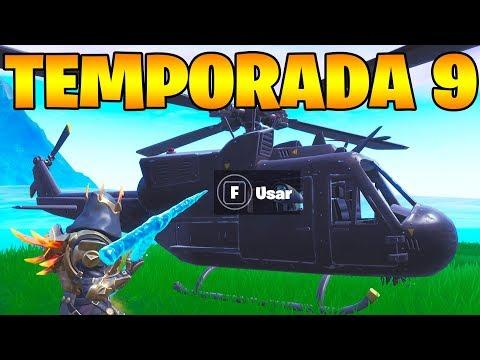 *NUEVO* HELICÓPTERO SECRETO de la TEMPORADA 9!! FORTNITE😱