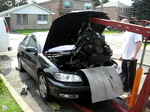 Catera engine removal - YouTube