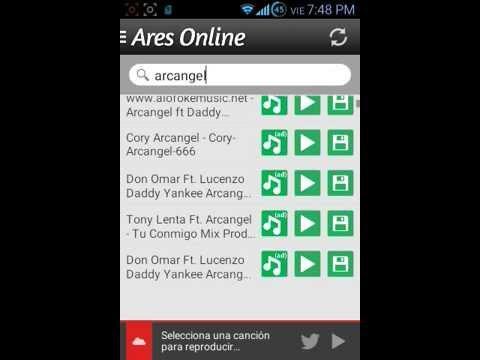 La mejor app para bajar musica (ARES ONLINE)