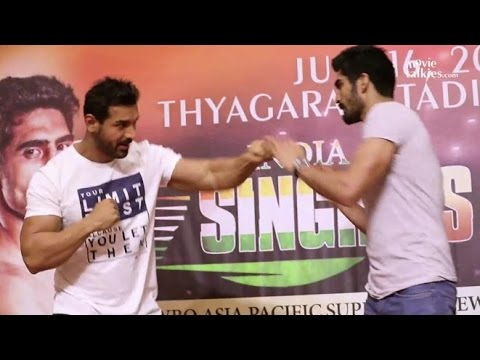 UNCUT John Abraham And Vijender Singh At WBO Asia Pacific Super Middle Weight Championship