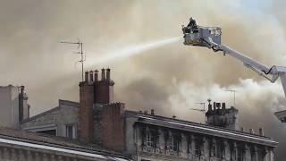 Incendie à Bordeaux rue Ferrère au quartier du Jardin Public