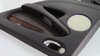 Car Door-Panel in Leather - Car Upholstery video clip
