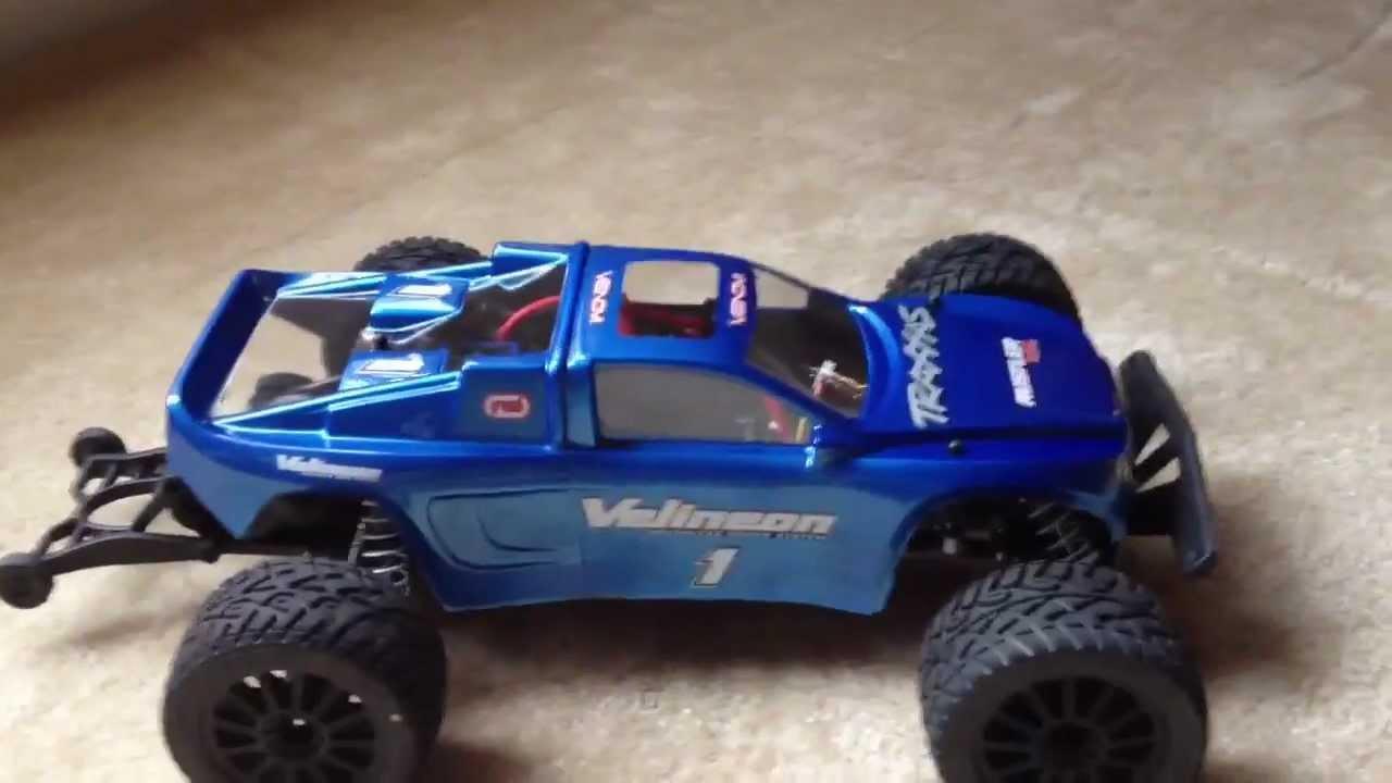 Traxxas Rustler Vxl With Desert Rat Body And Light Upgrades Youtube