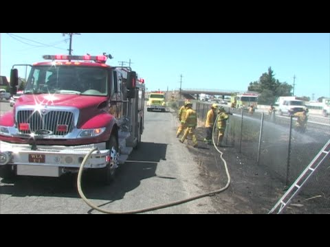 Firefighters Battle Several Brush Fires Along Highway 99 - News Story