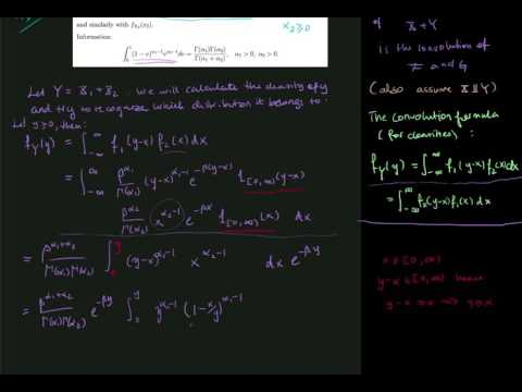Problem 4.6: Convolution of gamma distributed variables