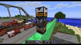 гайд по моду TrainCraft для minecraft #5 Крафт поездов. Конец обзора мода. Трэинкрафт