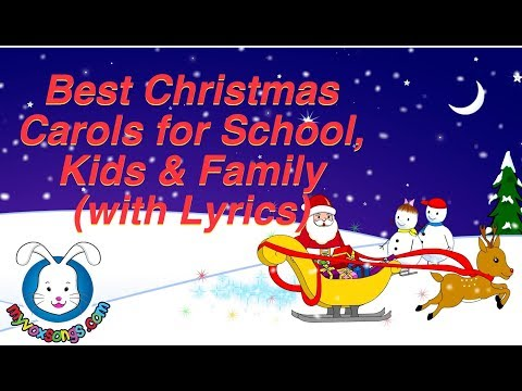Best Christmas Carols for School, Kids & Family WT. lyrics & The Holly & The Ivy & Silent Night