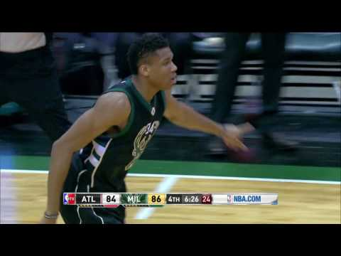 Atlanta Hawks vs Milawukee Bucks | March 24, 2017 | NBA 2016-17 Season