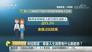 [中国财经报道]财经数读:单身人士消费有什么新趋势?  CCTV财经