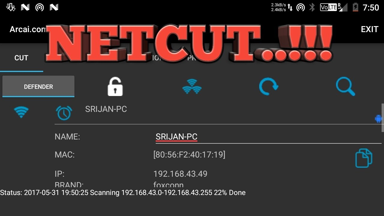 Hack-How to Kick People OFF Your WiFi Network Without Router Access Android  latest 2017