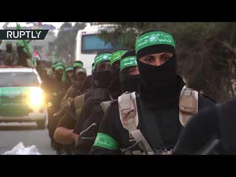 حركة حماس تحتفل بيوبيلها باستعراض عسكري  - نشر قبل 3 ساعة