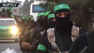 حركة حماس تحتفل بيوبيلها باستعراض عسكري
