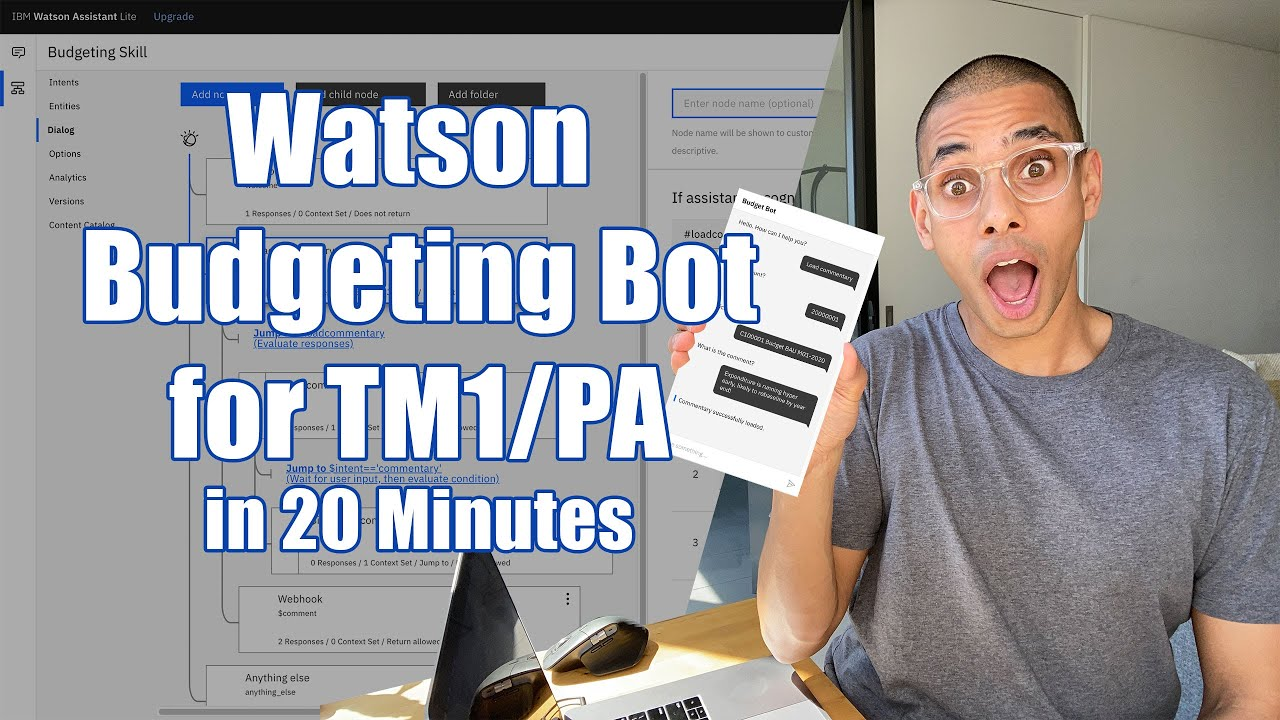 Building a AI Budget Bot for Planning Analytics with Watson Assistant in 20 Minutes