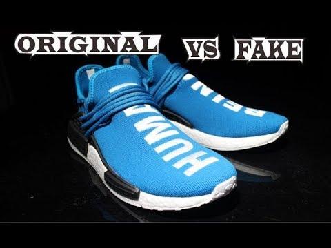 detailed look 50065 22c83 Adidas X Pharrell Williams NMD Human Race Blue Original & Fake