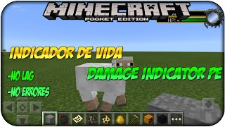 Actualización - Damage Indicator PE (Indicador de vida) Mod Minecraft Pocket Edition 0.12