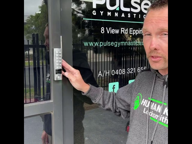 Access Control System Installed With Keypad & Electric Striker Human Key Locksmiths Melbourne
