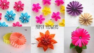 6 Easy Paper Flowers   Flower Making   DIY
