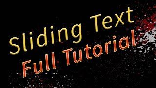 Sliding Text Animation effect - PowerPoint Motion Graphics Tutorial