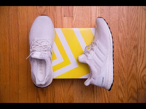 1.0 pattern, 2.0 thickness, 3.0 stretch = Adidas Ultra Boost 4.0 'Triple White' Review and On Feet