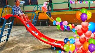 Bermain Bersama teman Permainan anak di Area Bermain Anak Fun Outdoor Kids Playground