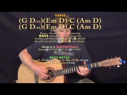 H.O.L.Y. (Florida Georgia Line) Guitar Lesson Chord Chart with TAB - Capo 3rd