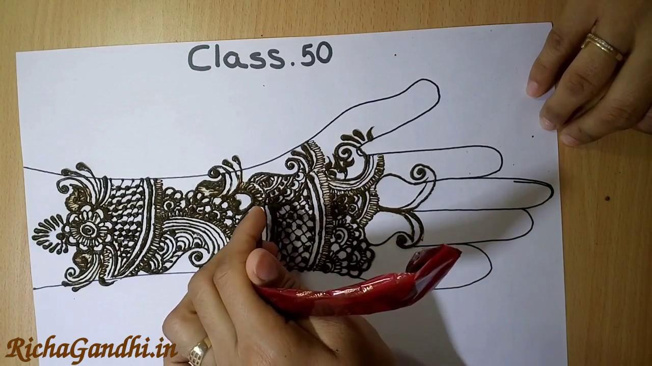 Bridal Mehndi Training : Class 50 bridal mehandi design how to draw mehndi in hindi