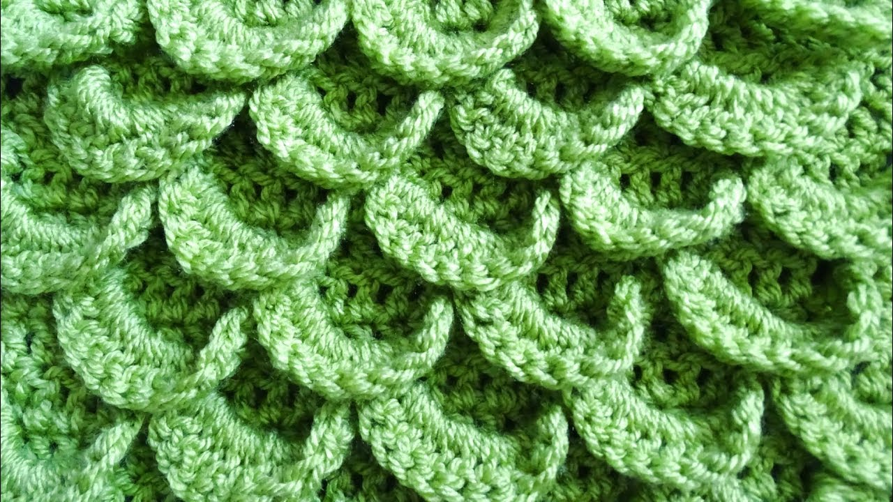 ebdbcbeb39d7fd Peacock Feather Crochet Stitch - Right Handed Crochet Tutorial - Meladora s  Creations
