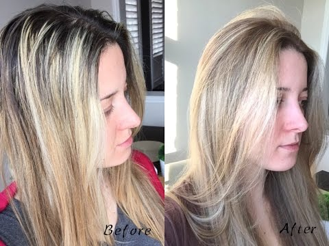 How to Tone Highlights & Soften the Base With Hair Dye (Ash Blond ...