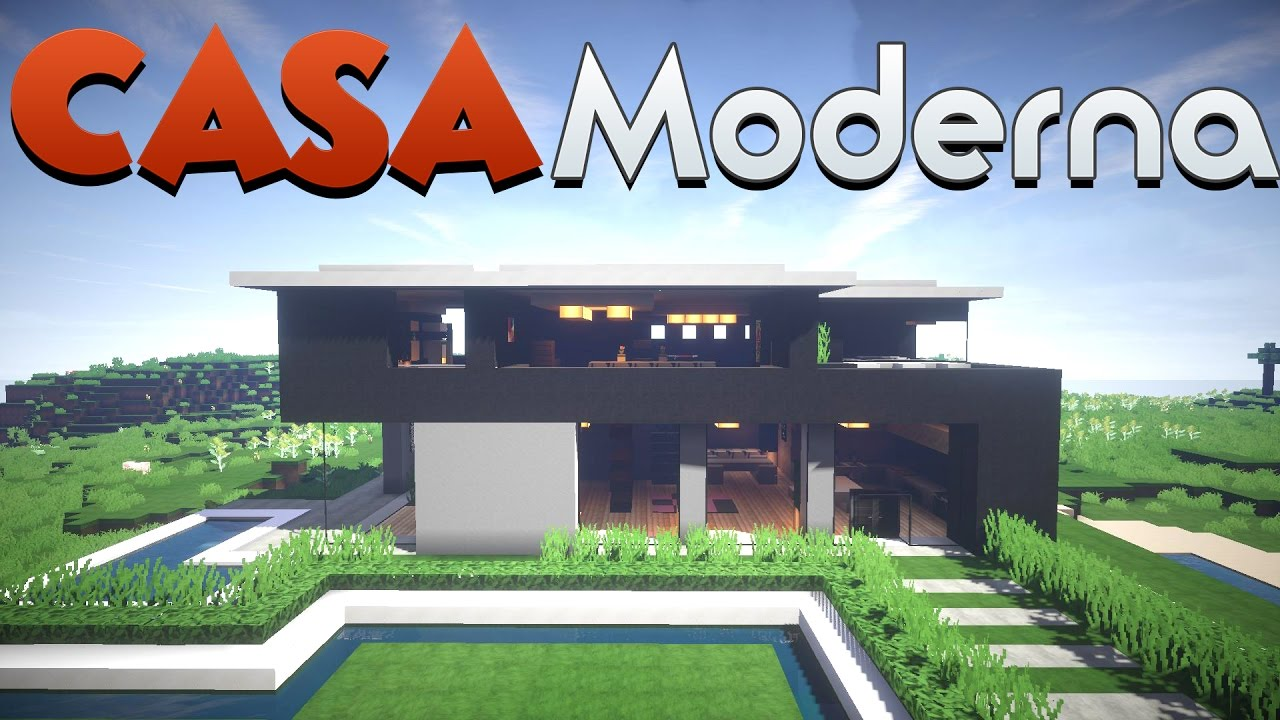 Come costruire una casa moderna minecraft ita youtube for Disegni di case moderne