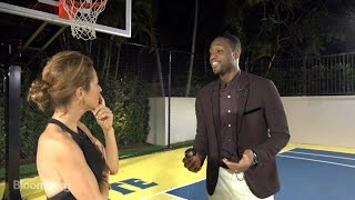Dwyane Wade Shoots Hoops With Bloomberg