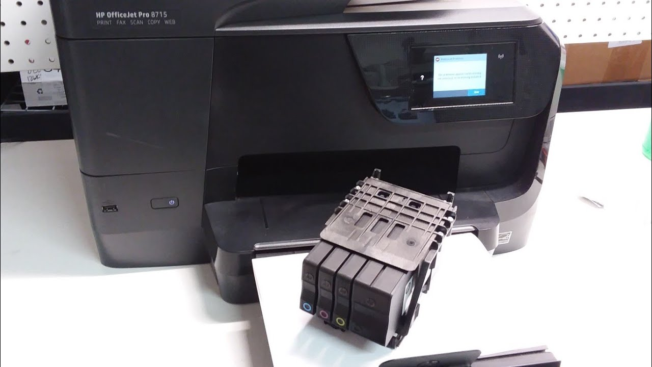 HP Officejet Pro 8710 How to remove Printhead