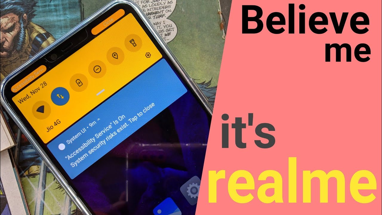 Repeat Realme Notification Bar Customization | Single Swipe