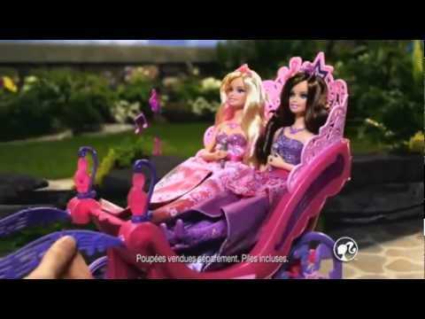 Barbie the Princess and the Popstar Commercial France Princess Playset, Horse and Carriage