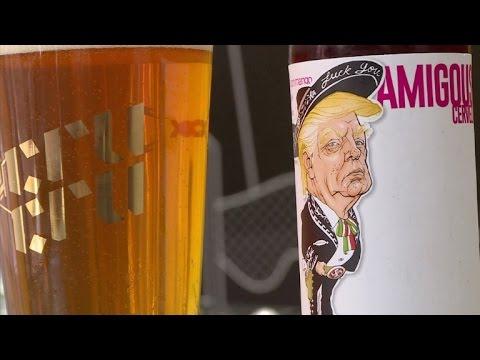 """Amigous"", cerveza mexicano-estadounidense con imagen de Trump"