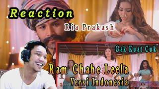 REACTION PARODI Ram Chahe Leela  Video Cover by Ria Prakash Priyanka Chopra Versi Indonesia