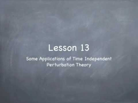 Lesson13: Applications of TI Perturbation Theory