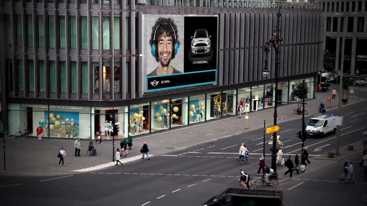 Mini Berlin mini photo box you on a billboard in berlin