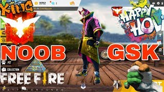 Free Fire Happy Holi | SQUAD Ranked Game | Heroic Game Play