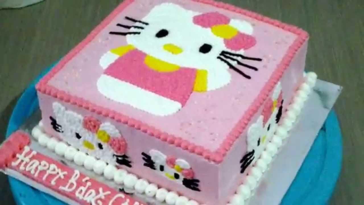 Hello Kitty Simple Cake YouTube