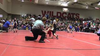 Dexter's first wrestling match, 37# 6 and under