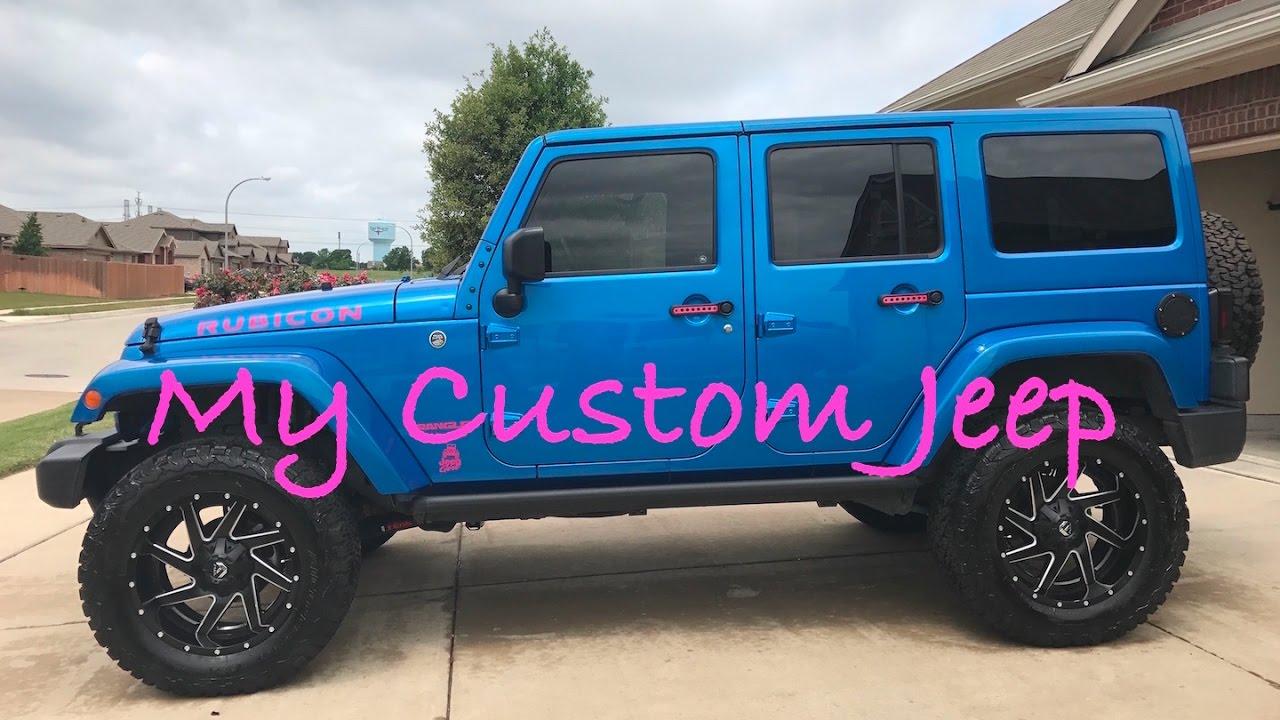 custom hydro blue jeep wrangler - youtube