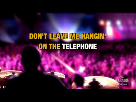 Hanging On The Telephone in the style of Blondie | Karaoke with Lyrics