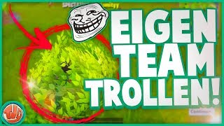 EIGEN TEAMMATES KILLEN!! TROLLEN IN FORTNITE!! - Fortnite: Battle Royale