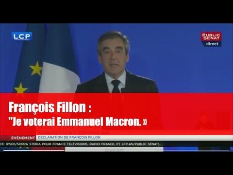 REPLAY. Réaction de François Fillon après les résultats du 1er tour de la présidentielle