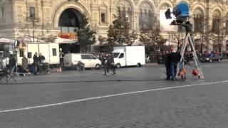 Новые съемки Тимати на Красной площади.